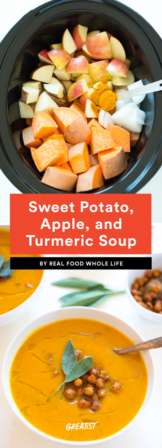 Sweet Potato, Apple, and Turmeric Soup Recipe