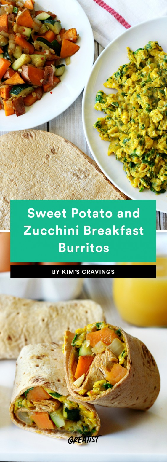 Sweet Potato and Zucchini Breakfast Burrito Recipe