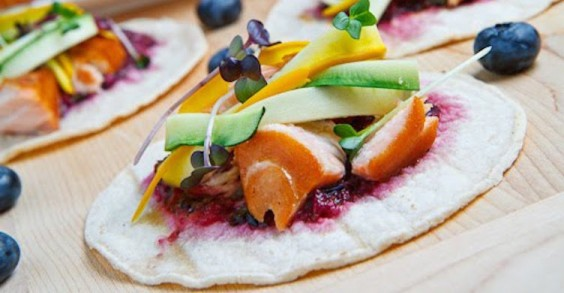 Roasted Blueberry And Rhubarb Crepes With Honey And Butter Recipes ...
