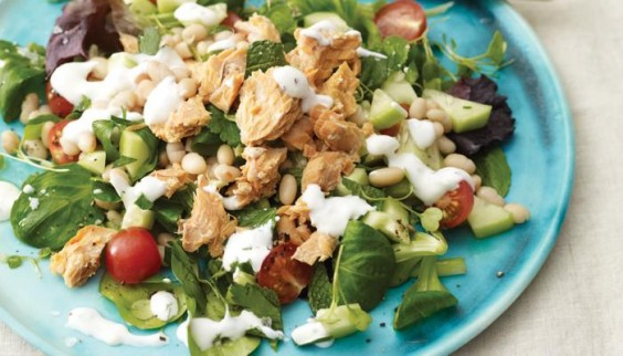 13. Salmon and Herbed Bean Salad