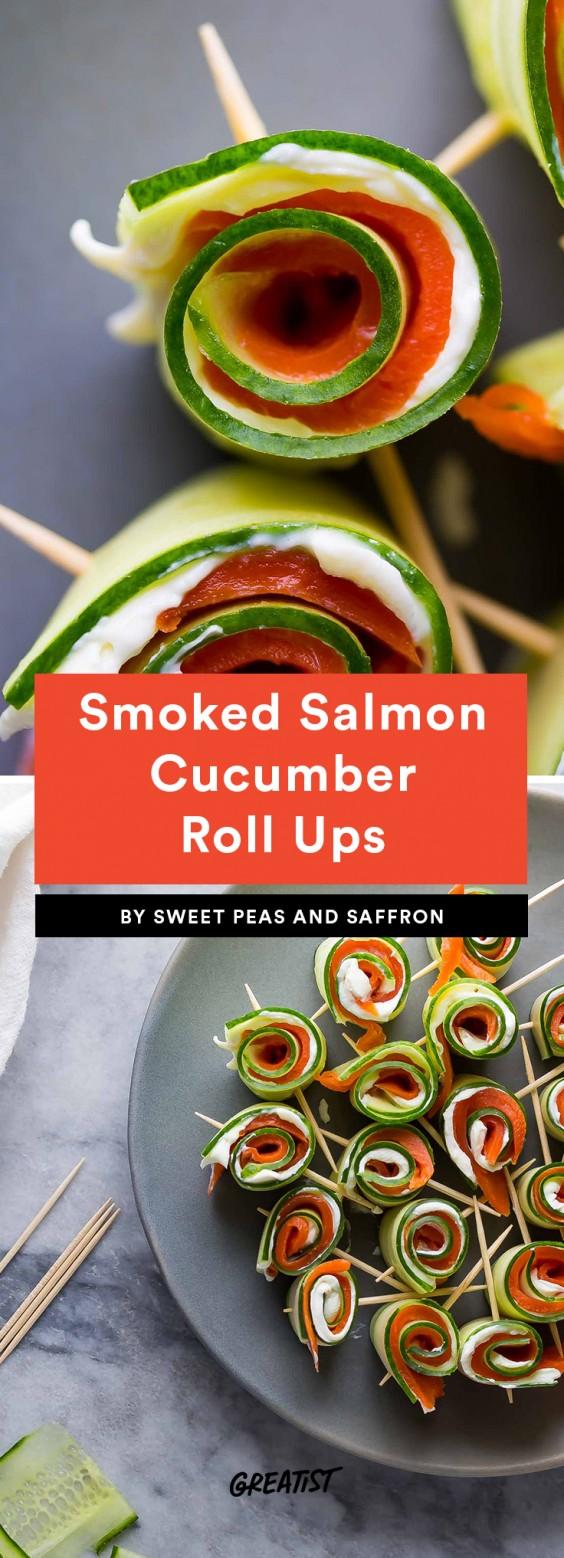 Smoked Salmon Cucumber Roll Ups
