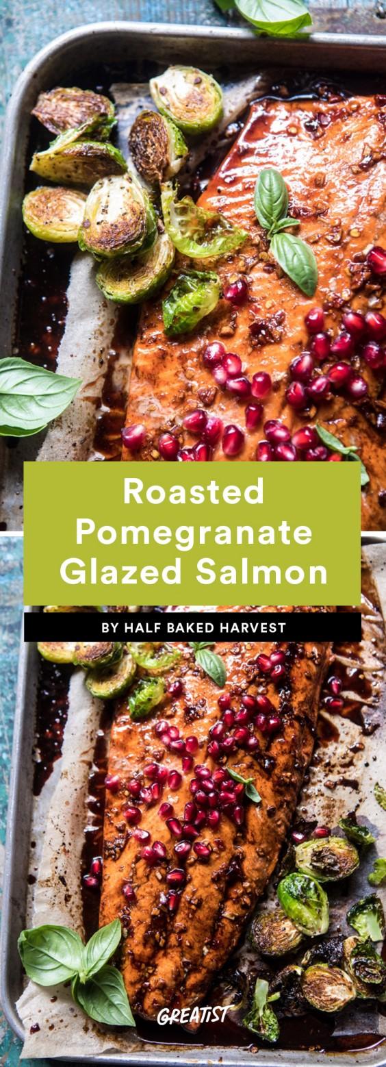 Roasted Pomegranate Glazed Salmon