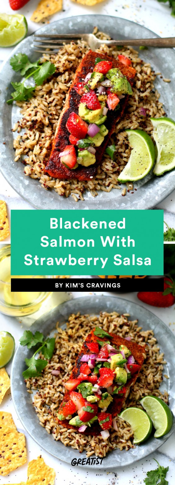 Blackened Salmon With Strawberry Salsa