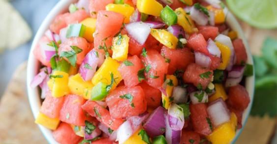 Watermelon Mango Pico de Gallo