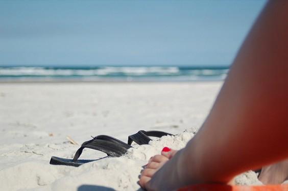 Sandy Flip Flops
