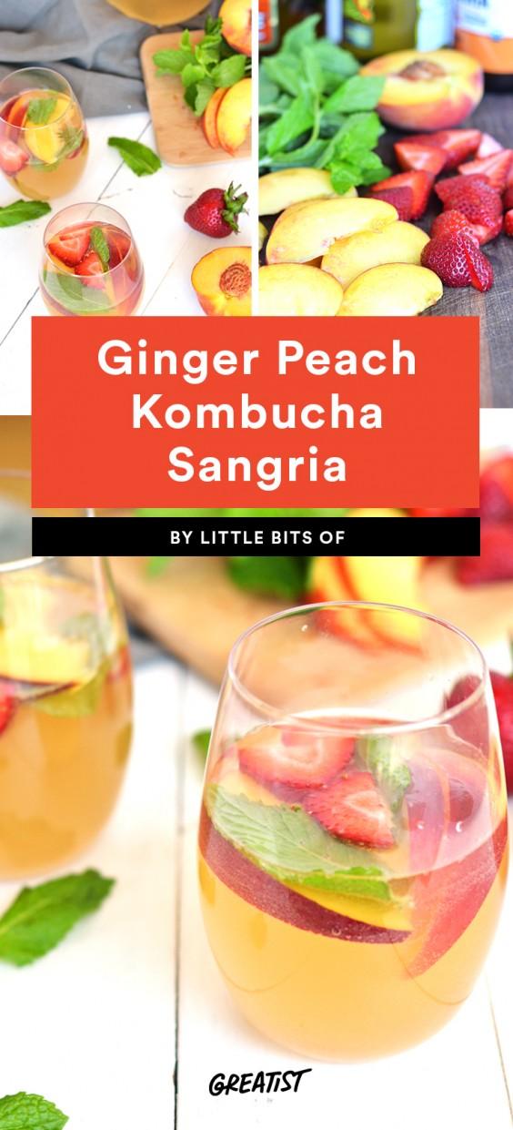 Ginger Peach Kombucha Sangria