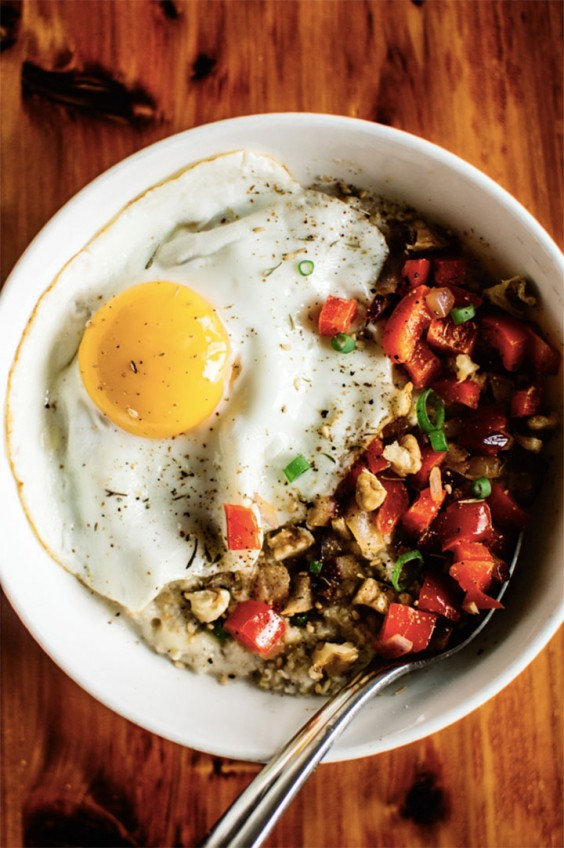 recipe: savory oatmeal with egg recipe [24]