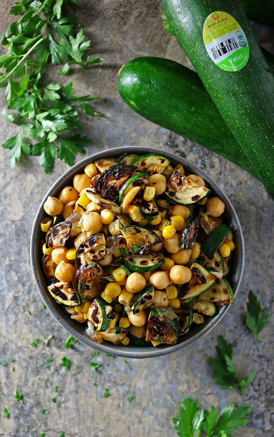 15. Easy Five-Ingredient Charred Zucchini and Caramelized Onion Salad