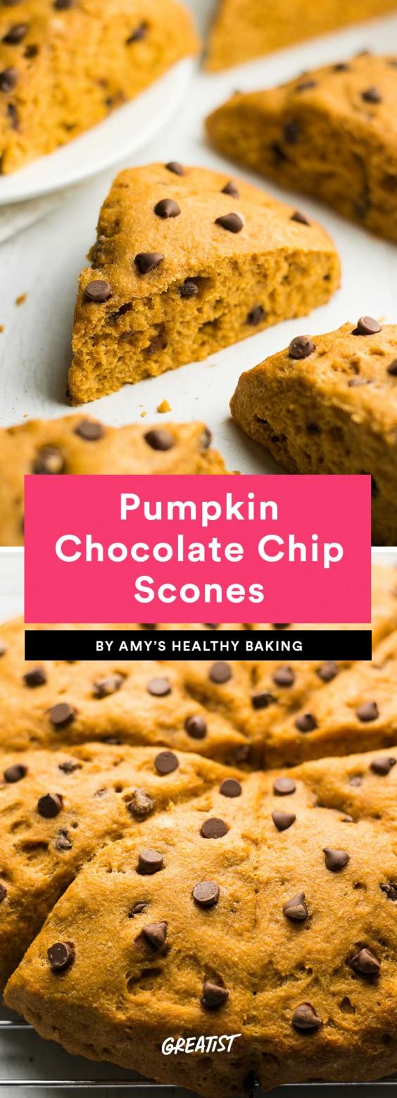 Pumpkin Chocolate Chip Scones Recipe