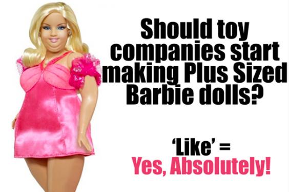 Plus-sized Barbie
