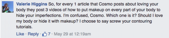 Cosmo Leg Contour Comment