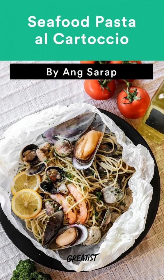Seafood Pasta En Papillote Recipe