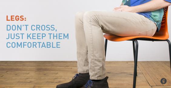9 Body Language Hacks: Don't Cross Legs