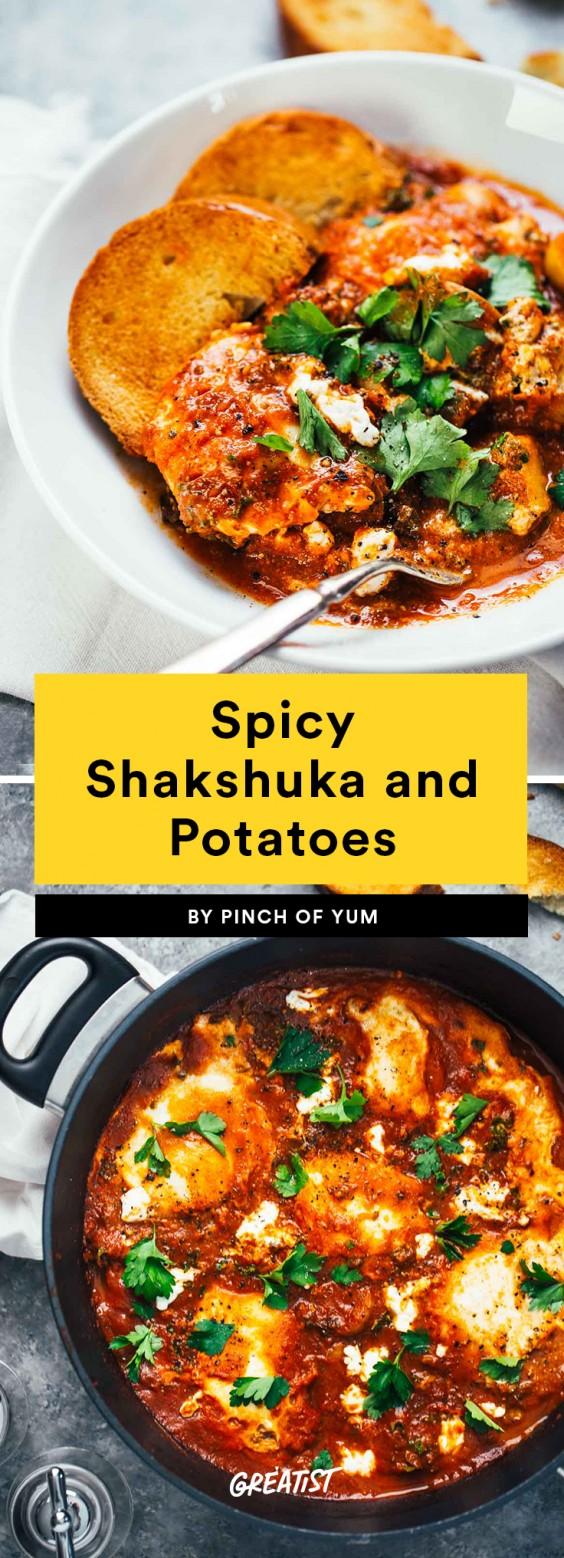Spicy Shakshuka and Potatoes