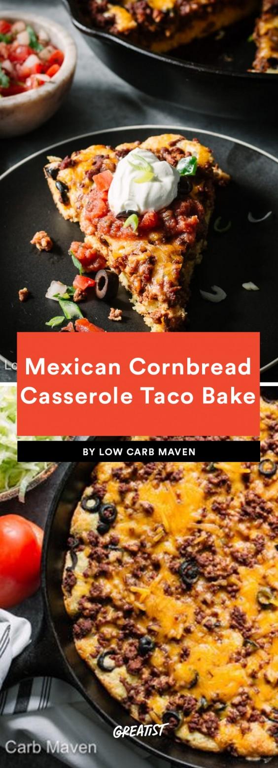 Mexican Cornbread Casserole Taco Bake