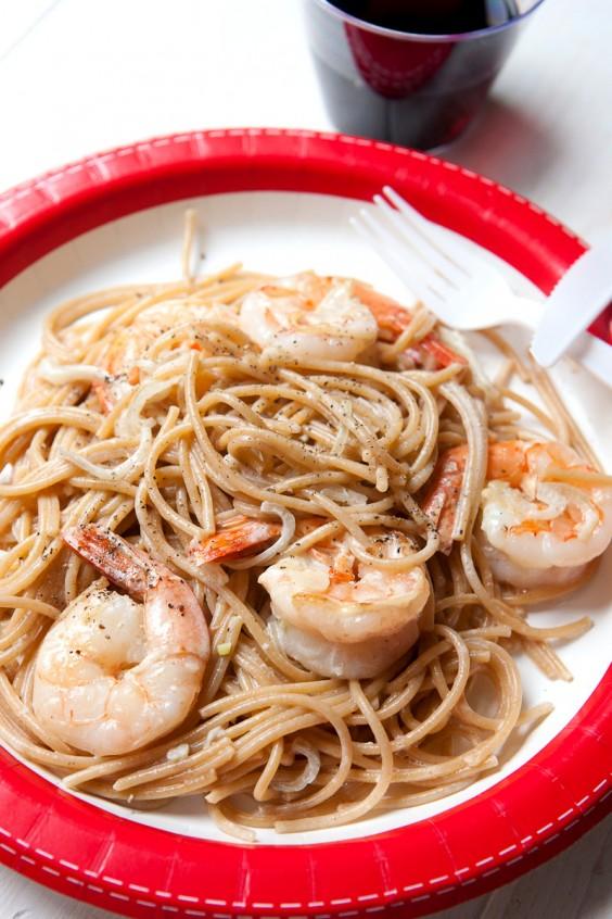 Blue apron wonton noodles - Shrimp Scampi For One Recipe