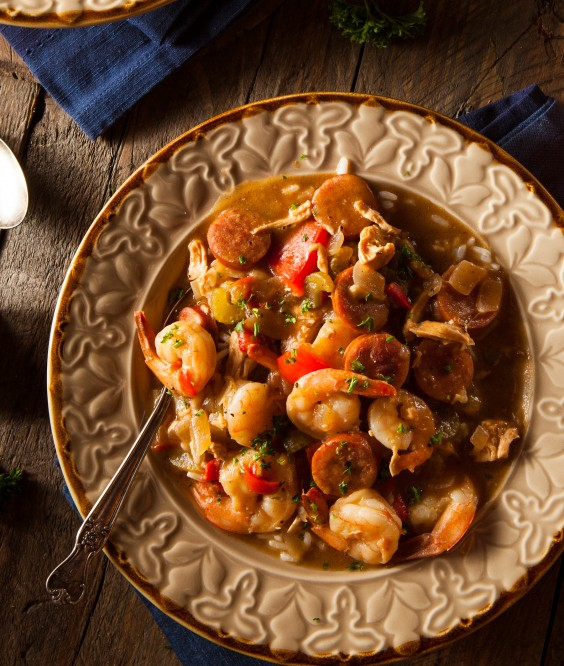 Chicken, Shrimp, and Sausage Gumbo Recipe