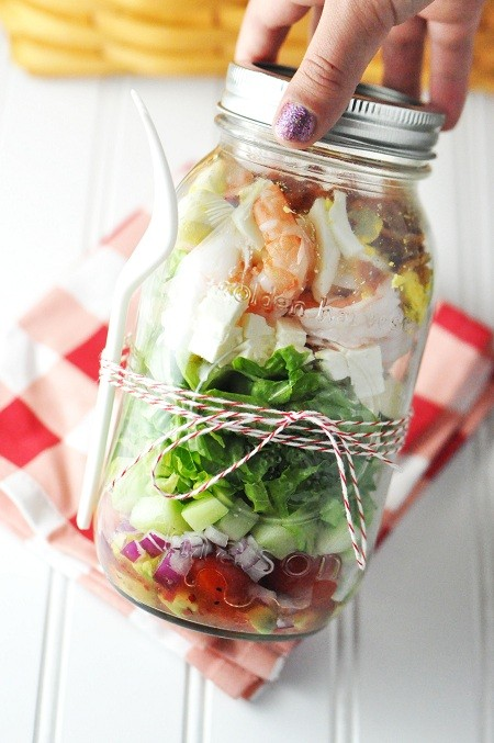 Shrimp Feta Cobb Salad