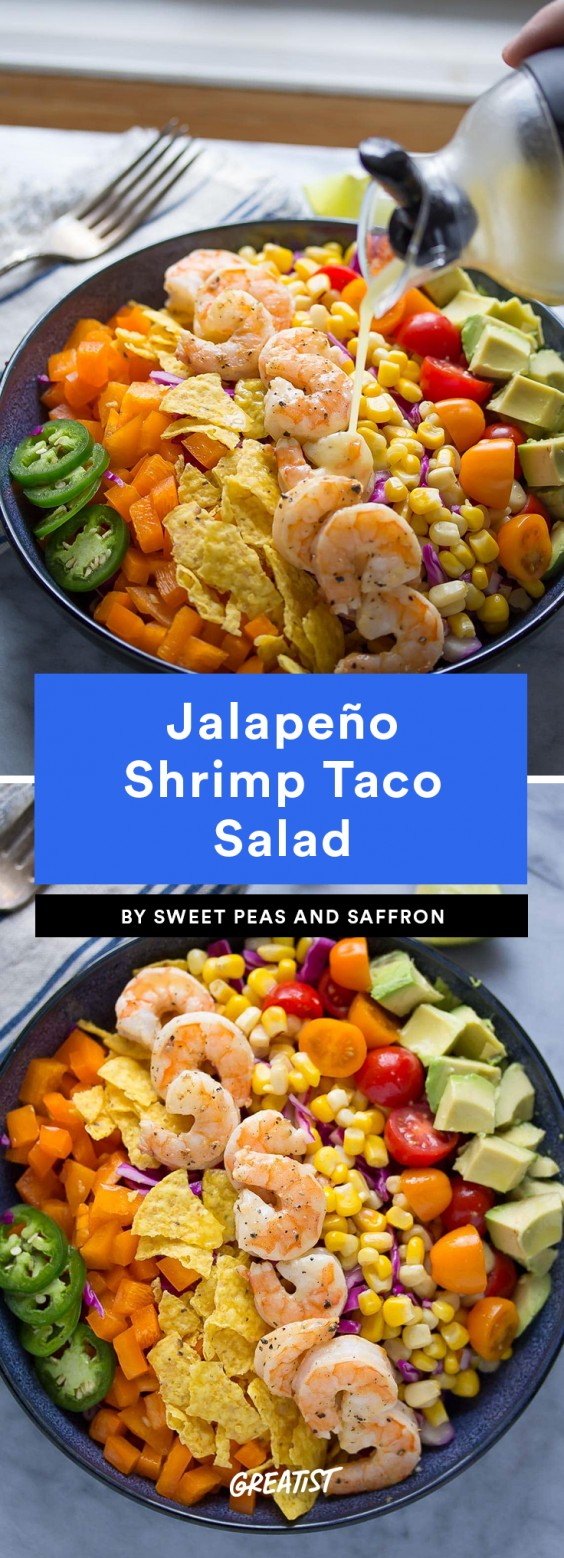 Jalapeño Shrimp Taco Salad Recipe