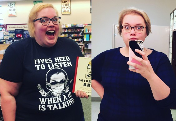 The author, Sierra, in a split-screen that shows her weight loss