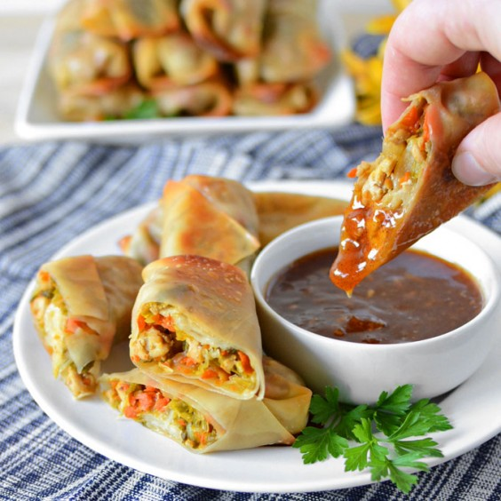 how to make spring rolls at home without egg