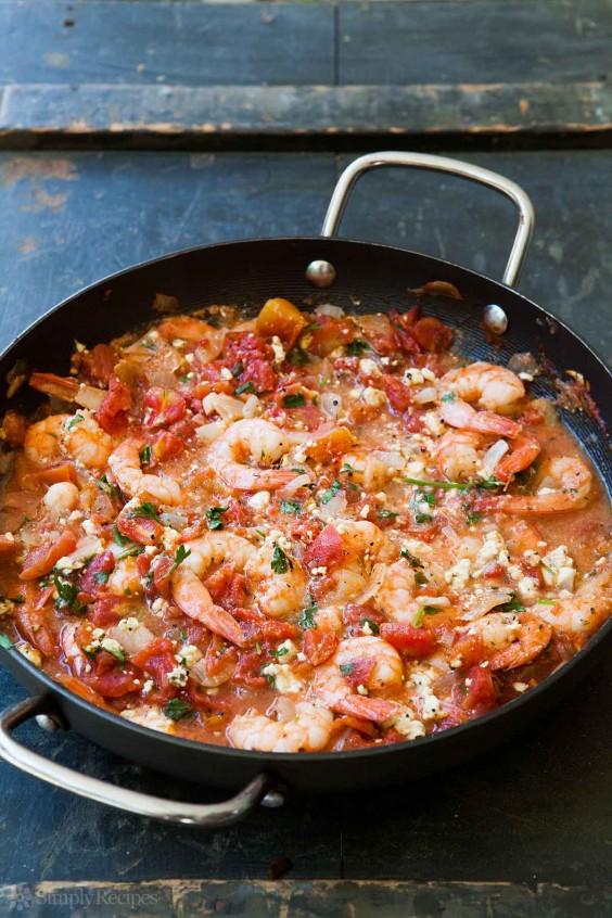 Shrimp: Baked Feta Sauce