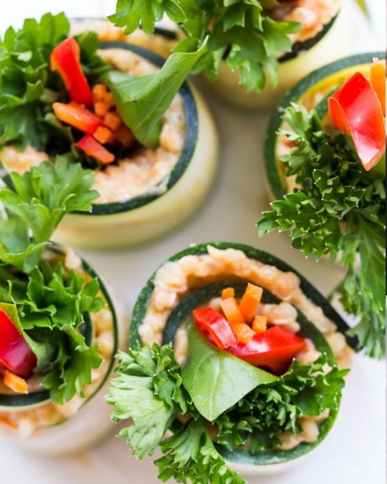 20 Gluten-Free Lunches: Quinoa and Hummus Zucchini Roll Ups