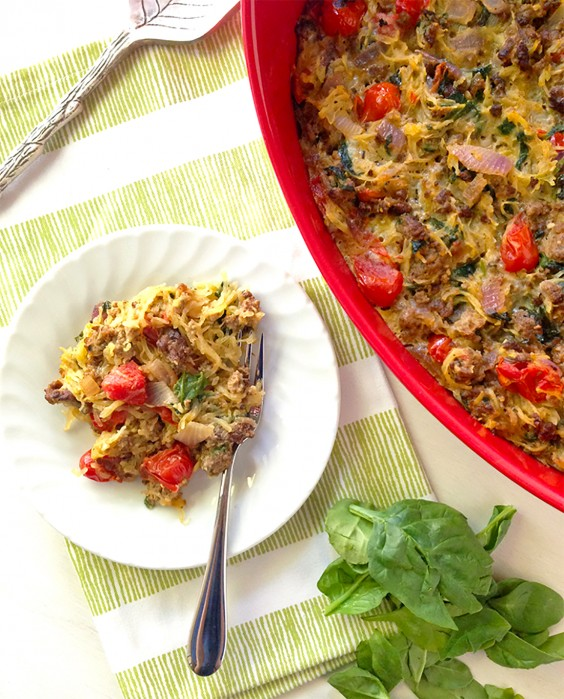Paleo Dinners: Spaghetti Squash Casserole