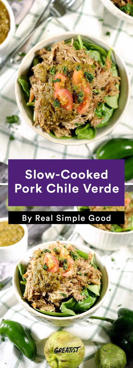 Real Simple Good Dinner: Pork Chile Verde