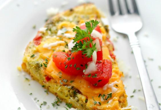 Crock Pot Veggie Omelette