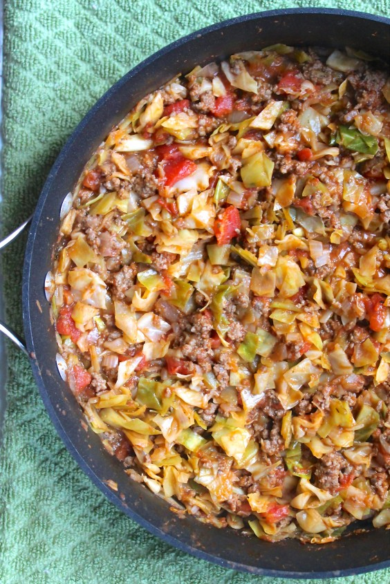 Amish One-Pan Ground Beef and Cabbage Skillet
