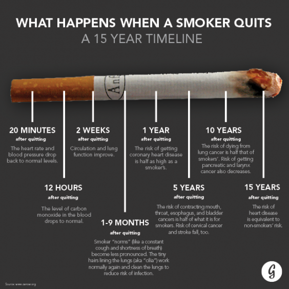 benefits of quitting smoking timeline pdf