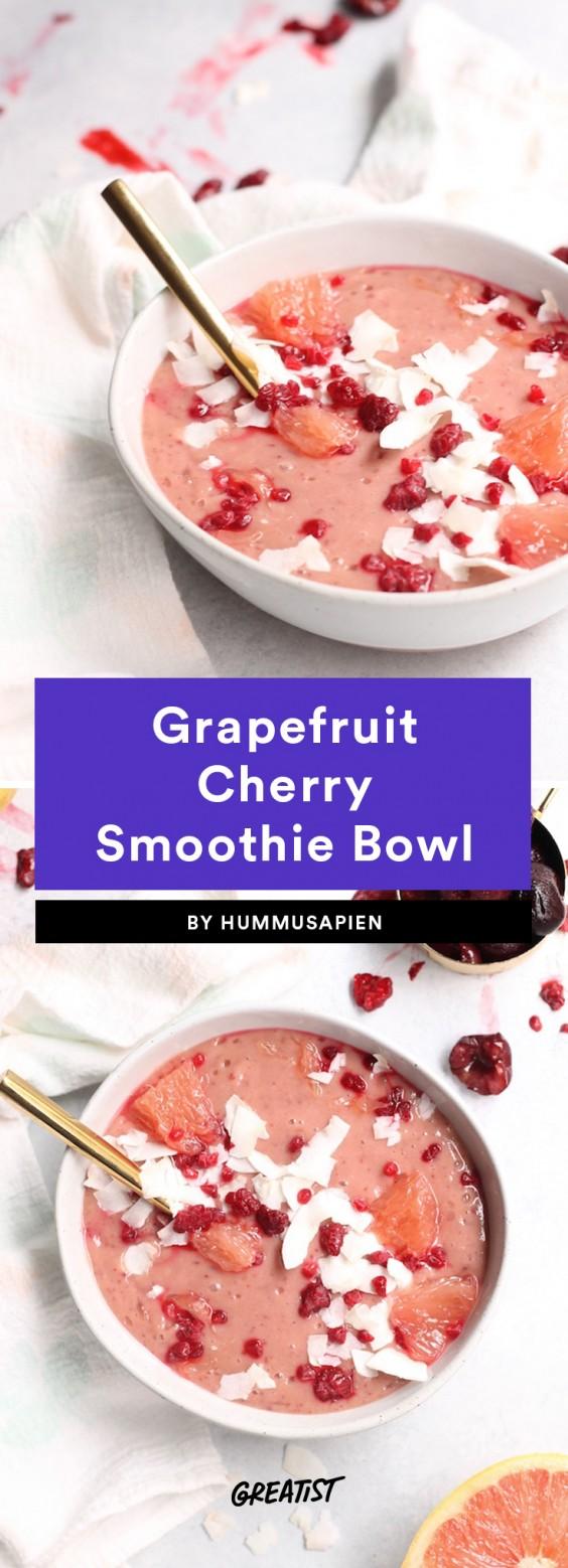 Grapefruit Cherry Smoothie Bowl Recipe