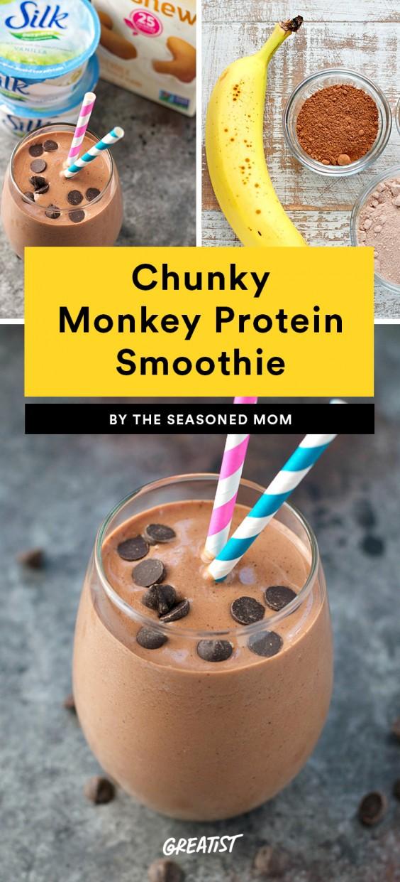 Chunky Monkey Protein Smoothie