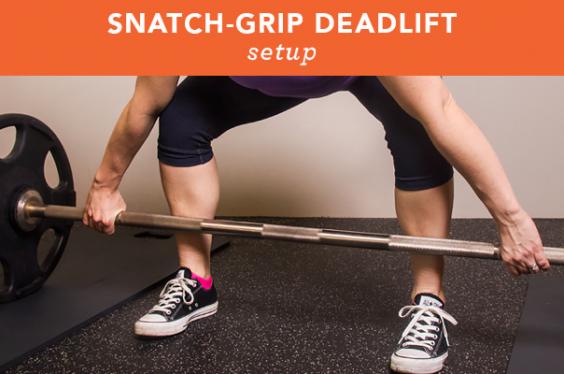 Snatch-grip deadlift