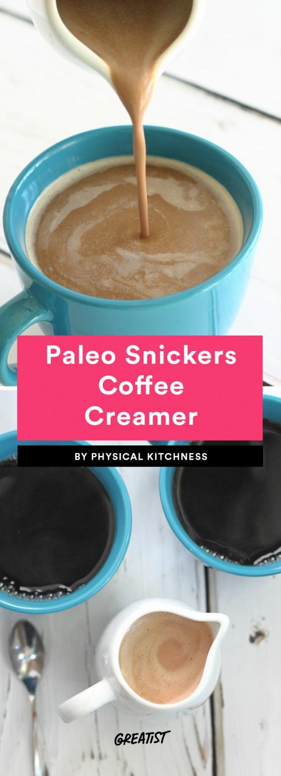 Paleo Snickers Coffee Creamer
