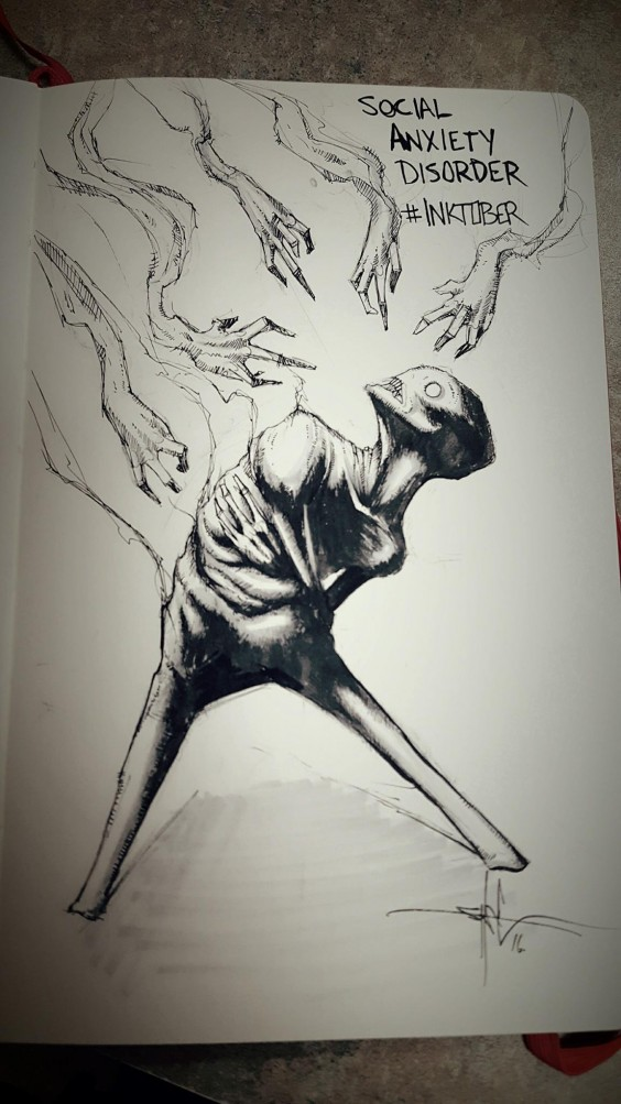These Dark Drawings Capture the Struggle That Comes With ...