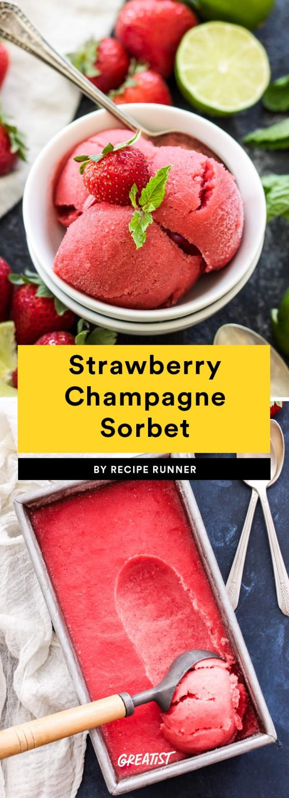 Strawberry Champagne Sorbet