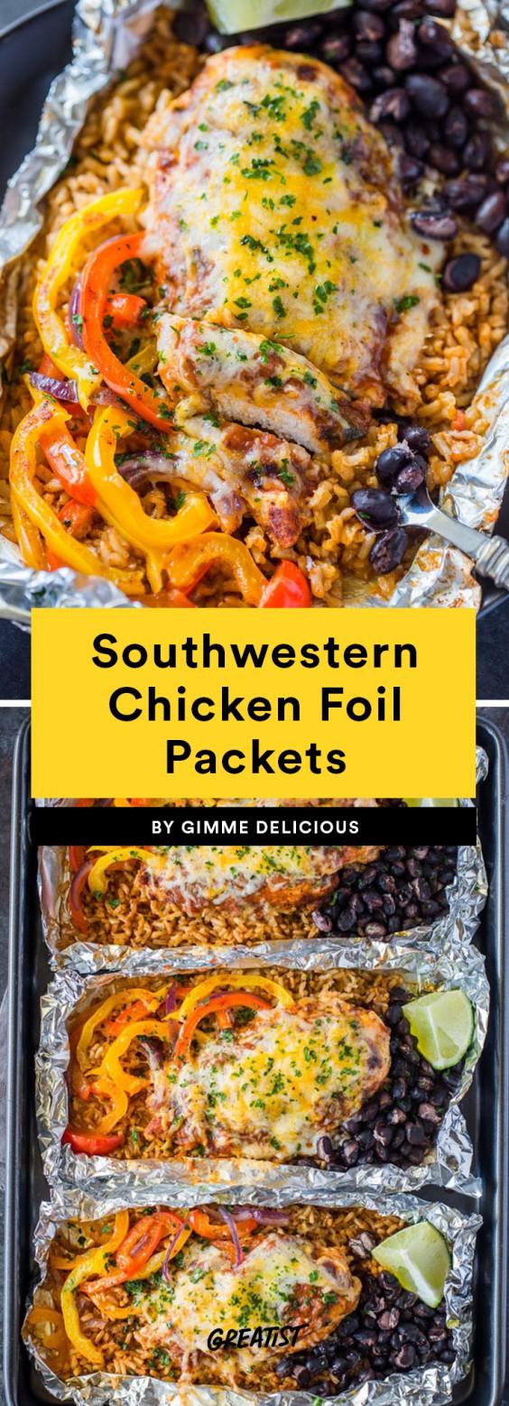 Southwestern Chicken Foil Packets