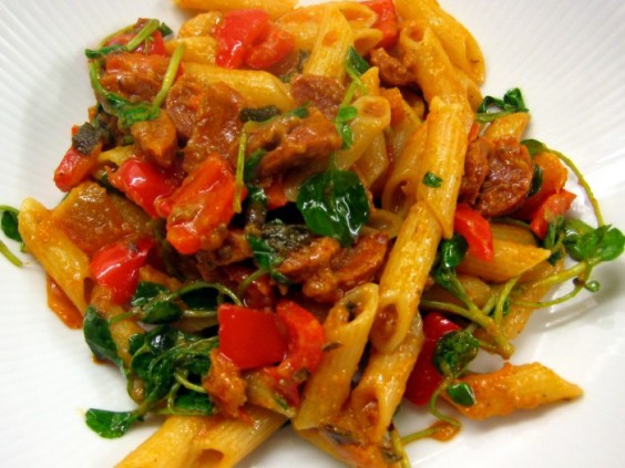 Speedy Sage and Sausage Pasta