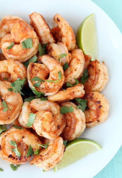 22. Spicy Cilantro Shrimp With Honey Lime Dipping Sauce