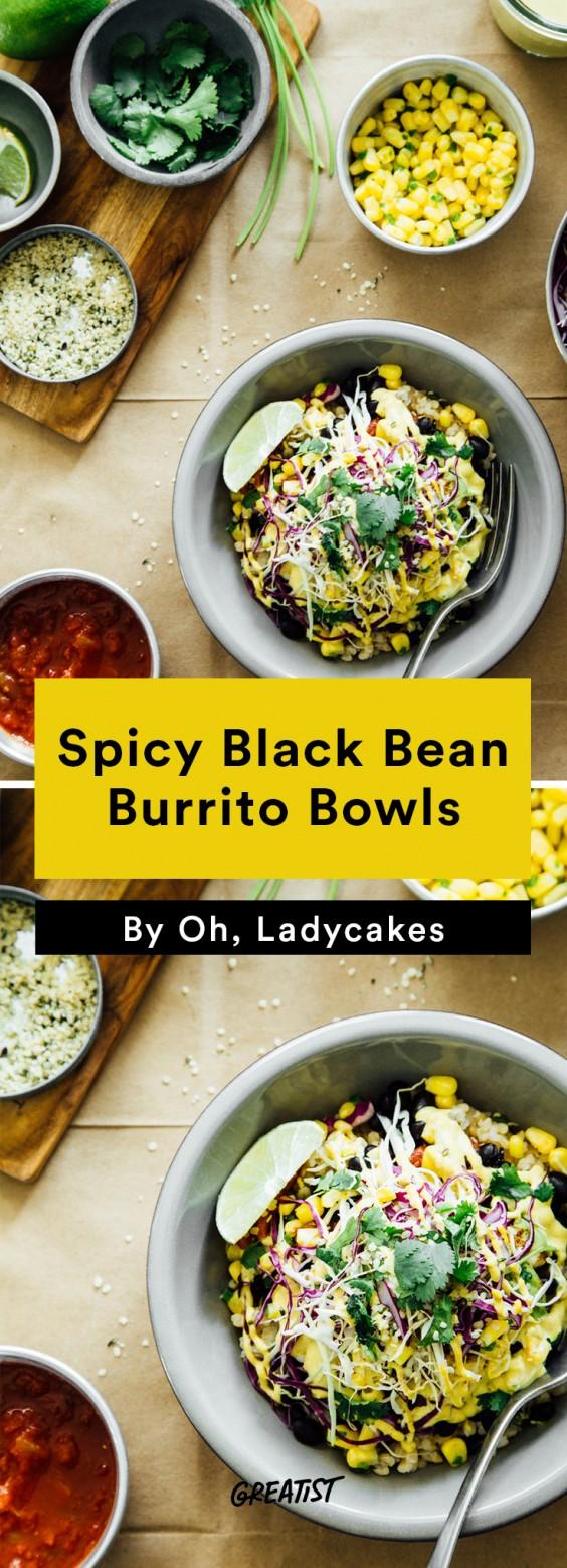 oh ladycakes: Spicy Black Bean Burrito Bowls