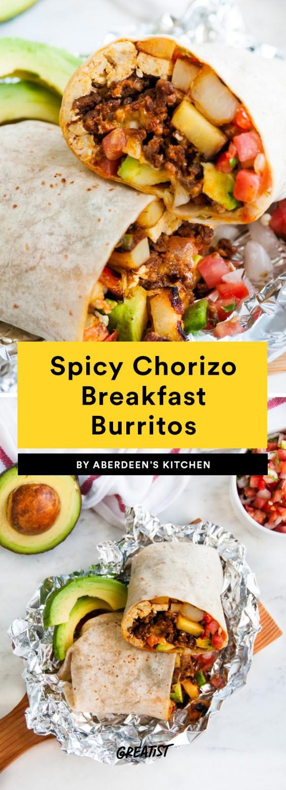 Spicy Chorizo Breakfast Burrito Recipe