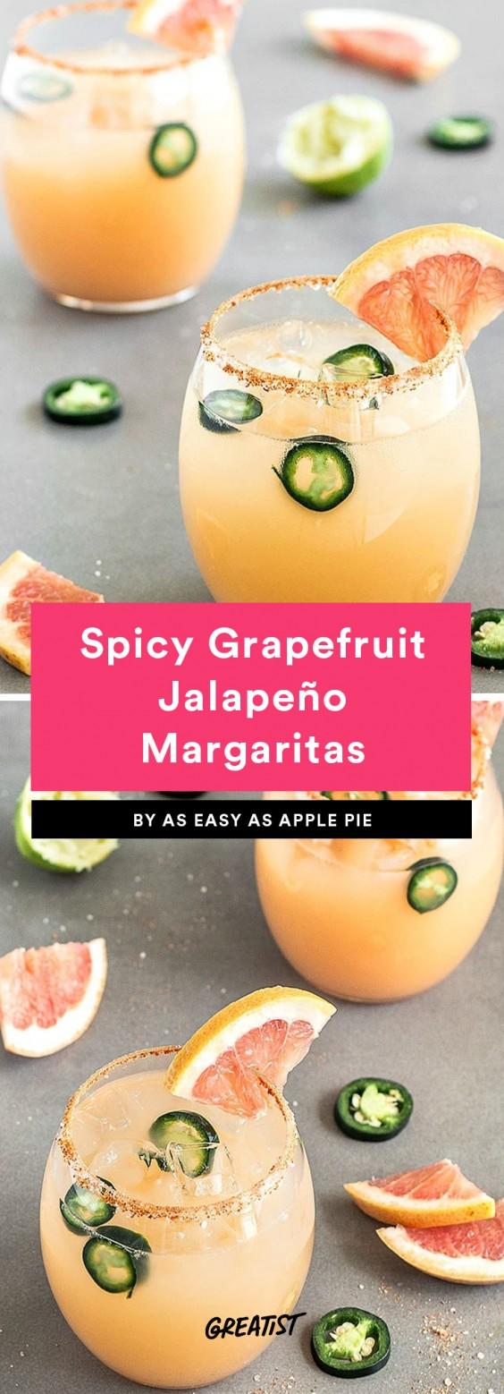Spicy Grapefruit Jalapeno Margarita Recipe