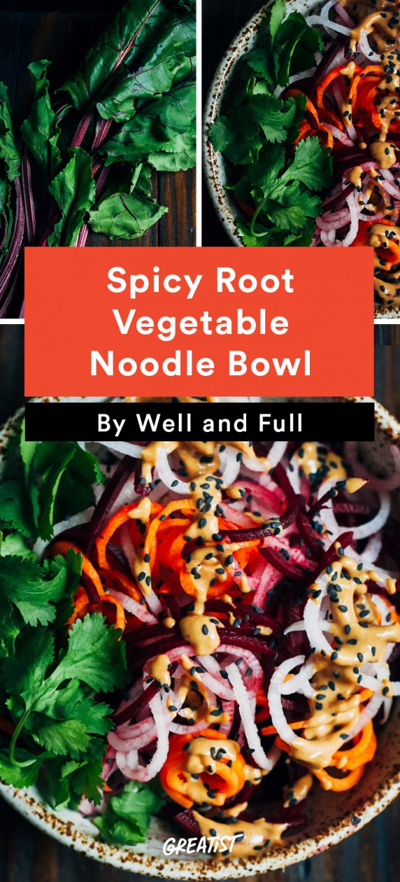 Spicy Root Vegetable Noodle Bowl Recipe