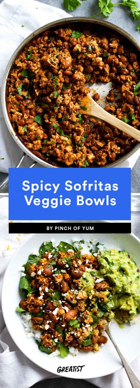 Spicy Sofritas Veggie Bowl Recipe