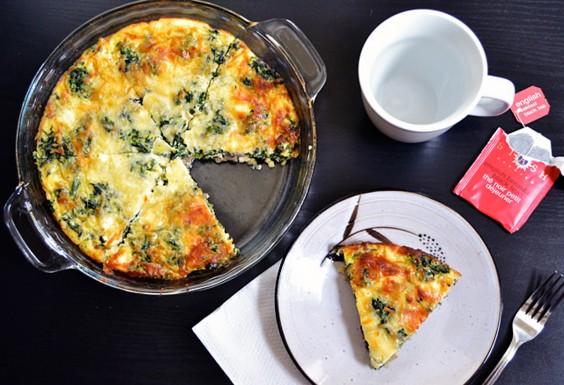 4. Spinach, Mushroom, and Feta Crustless Quiche