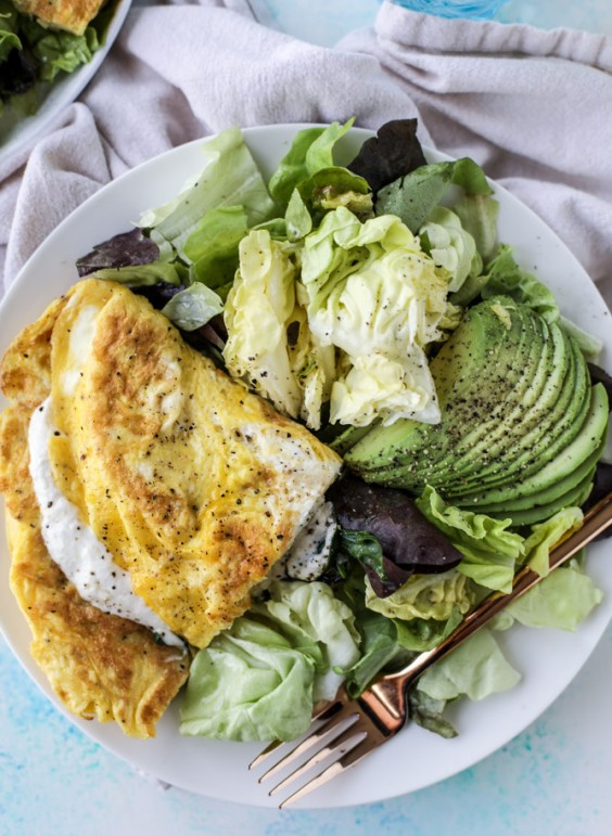 Cooking For Two: Spinach Burrata Omelet With Avocado Recipe