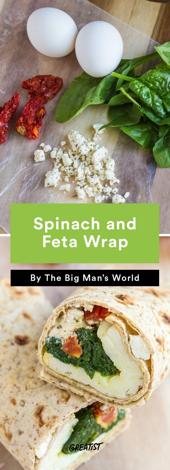 Starbucks Copycat Spinach and Feta Wrap