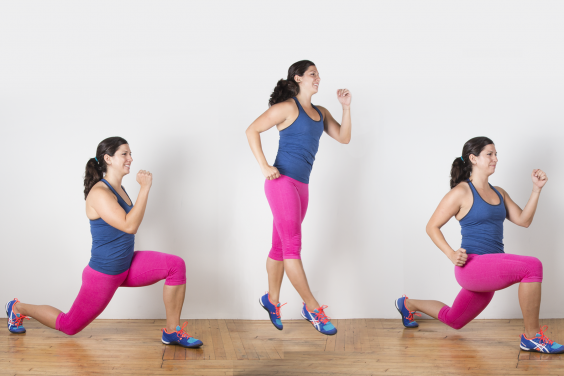 Jump and lunge variation